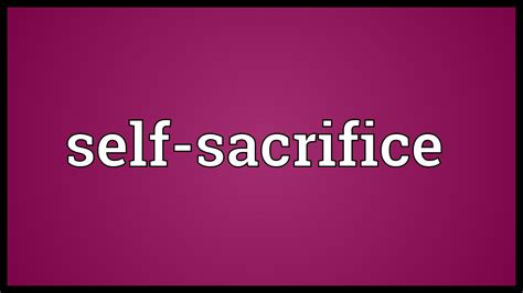 sacrifice the word