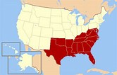 map of the american south