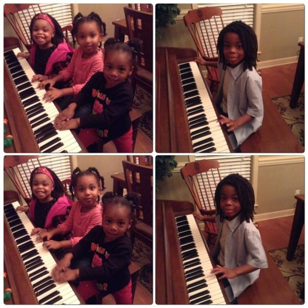 Kids at piano